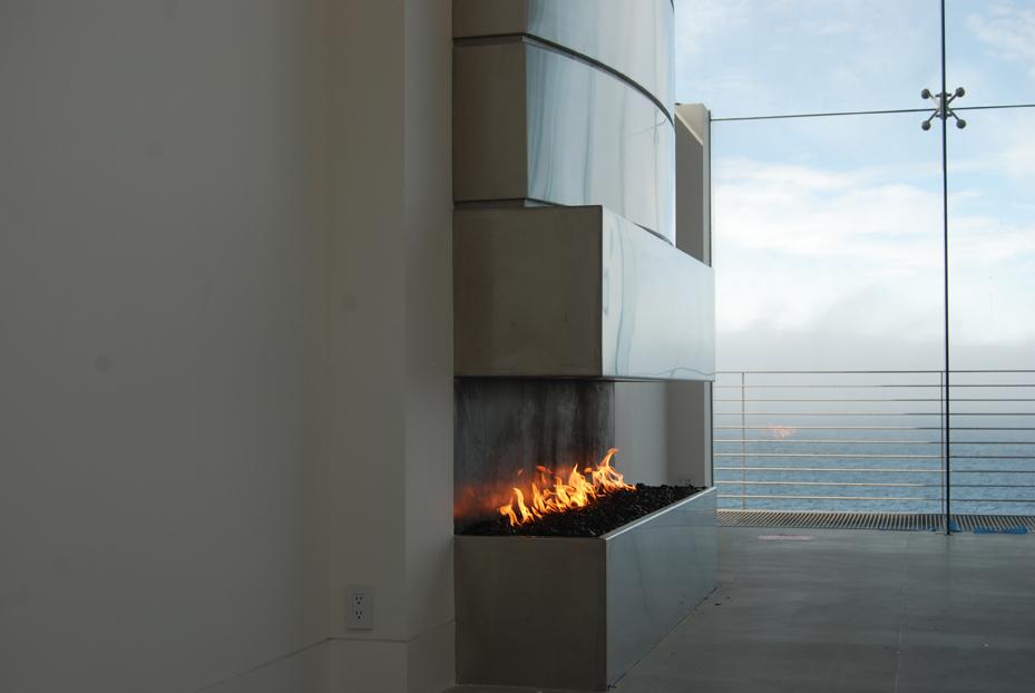 3 sided custom isokern energy house for Isokern fireplace inserts