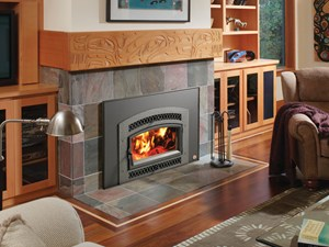 Lopi Large Flush Wood Hybrid Fyre Arched Fireplace Insert