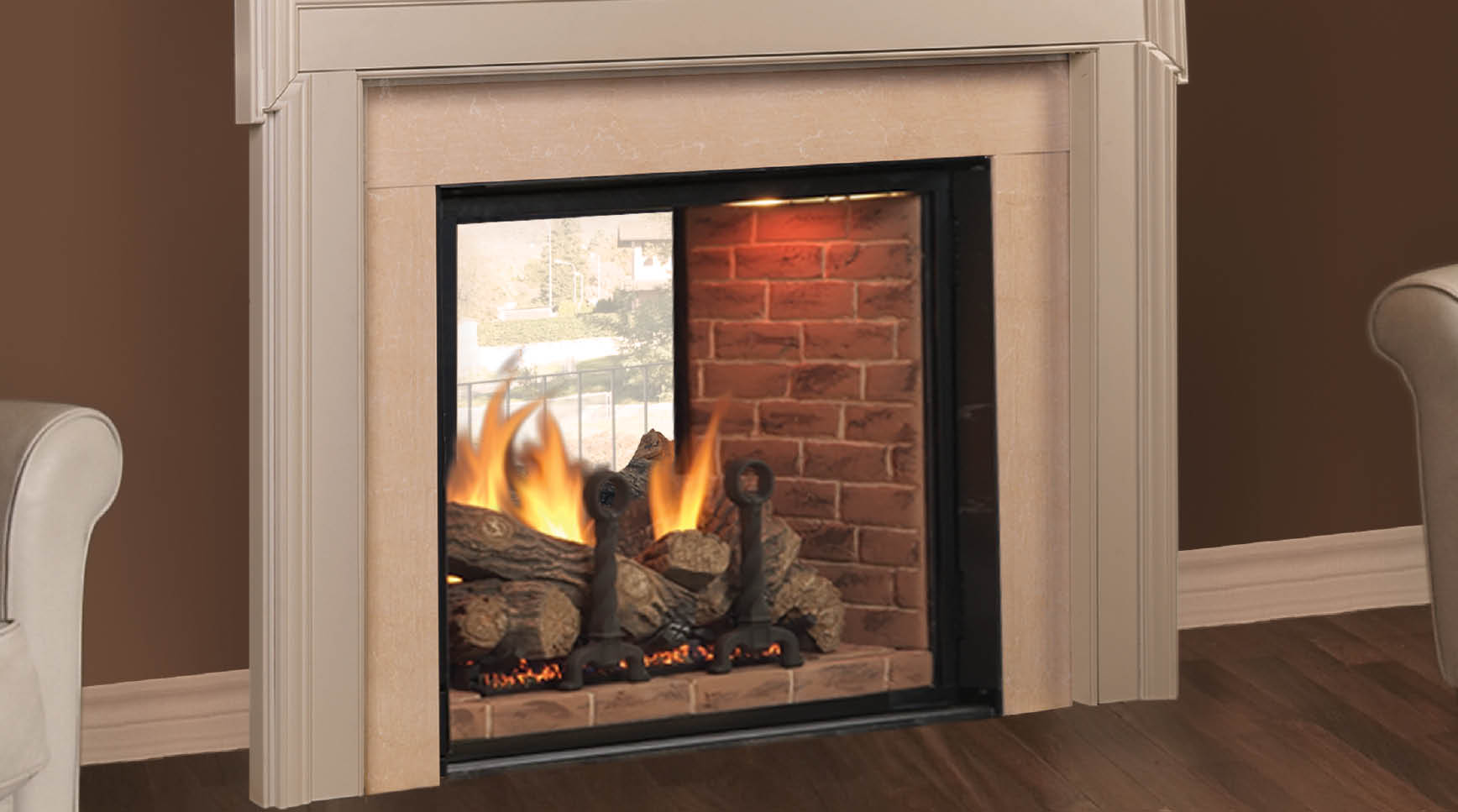 Monessen Covington See-Thru Direct Vent Gas Fireplace for any room. See our fireplace store in San Jose