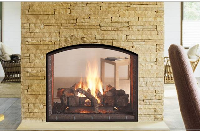 Heat glo escape see through gas fireplace energy for See thru fireplaces