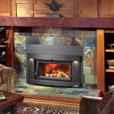 Avalon flush wood plus perfect fit the energy house Contemporary wood burning fireplace inserts