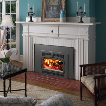 Lopi Large Flush Wood Hybrid-Fyre™ Arched Fireplace Insert | The ...