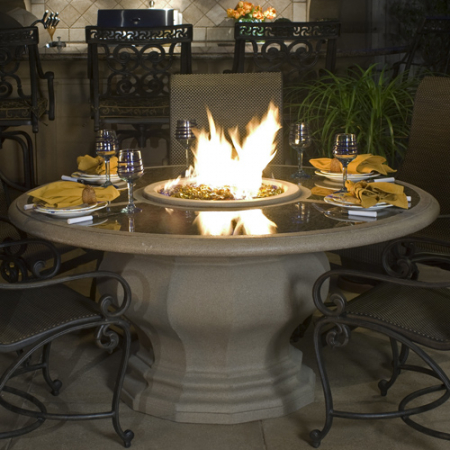 Inverted Dining Firetable with
