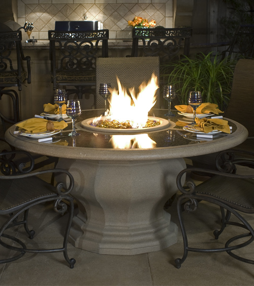American Fyre Designs Inverted Dining Fire Table With