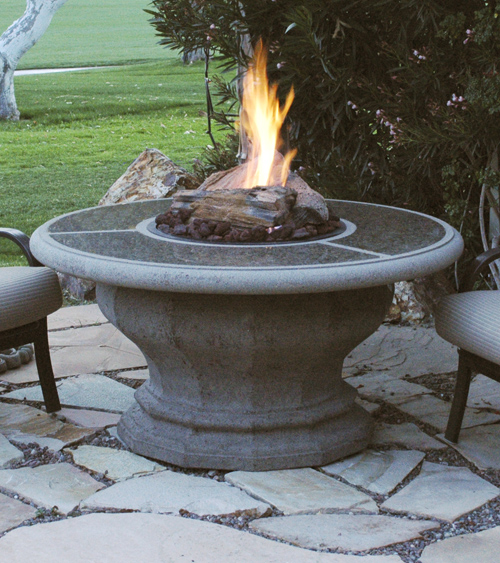 American Fyre Designs Inverted Fire Table With Granite