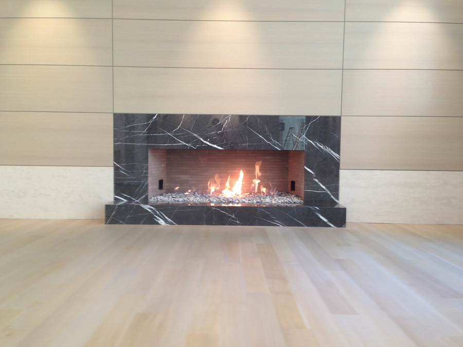 isokern linear fireplace energy house