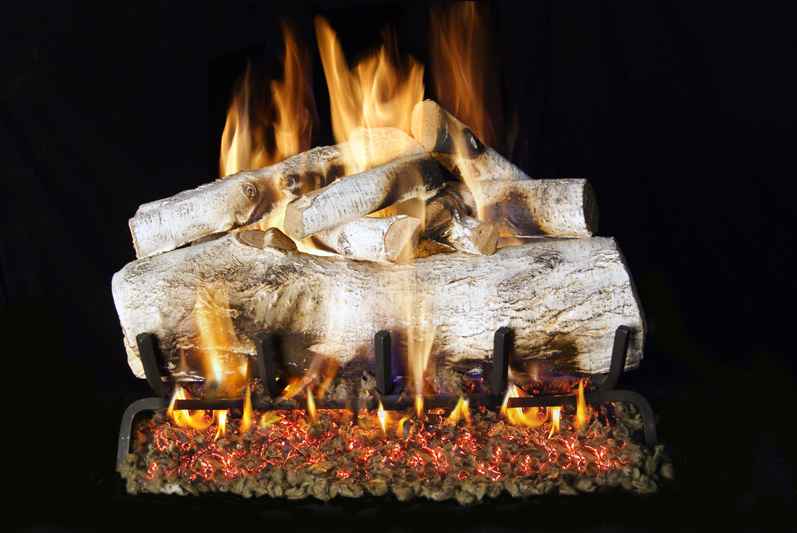 Real Fyre Mountain Birch Fireplace Log Set The Energy House