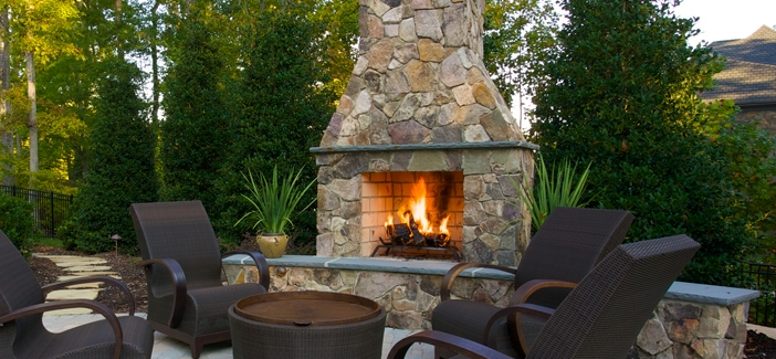 Outdoor Fireplace Applications | Isokern | Energy House