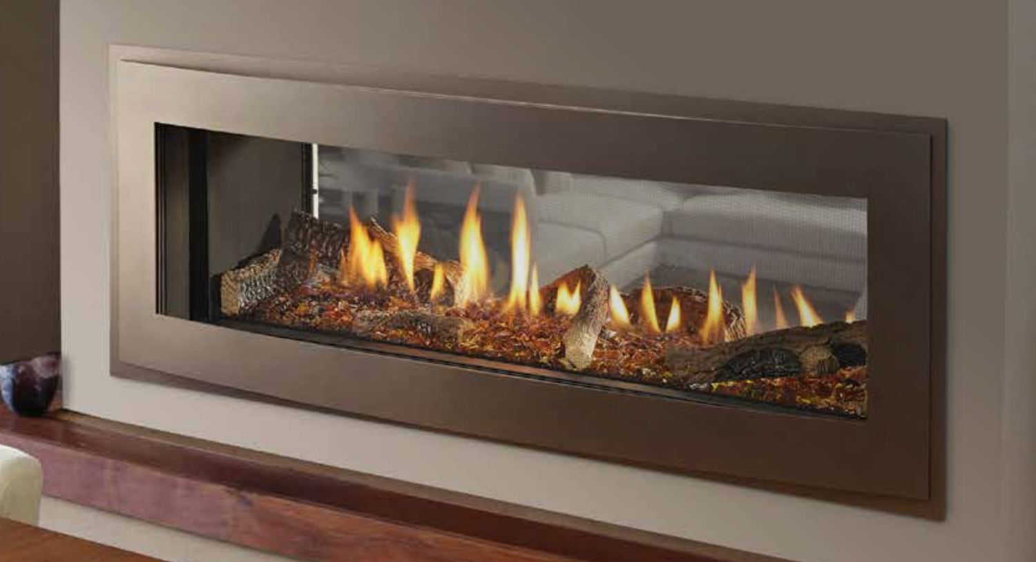 fireplace wide direct vent gas sided insert linear product modern trisore contemporary