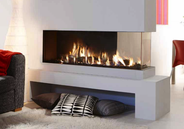Lucius 140 Room Divider See Through Fireplace The Energy House