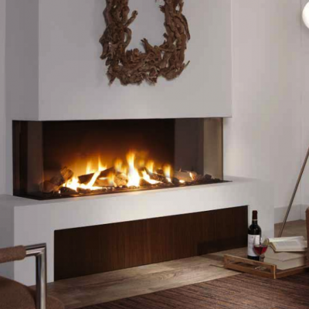 See thru fireplaces the energy house for Isokern outdoor fireplace prices