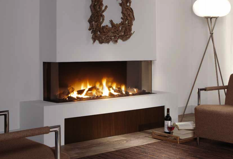 Trisore 140 see through fireplace the energy house for Isokern fireplace cost