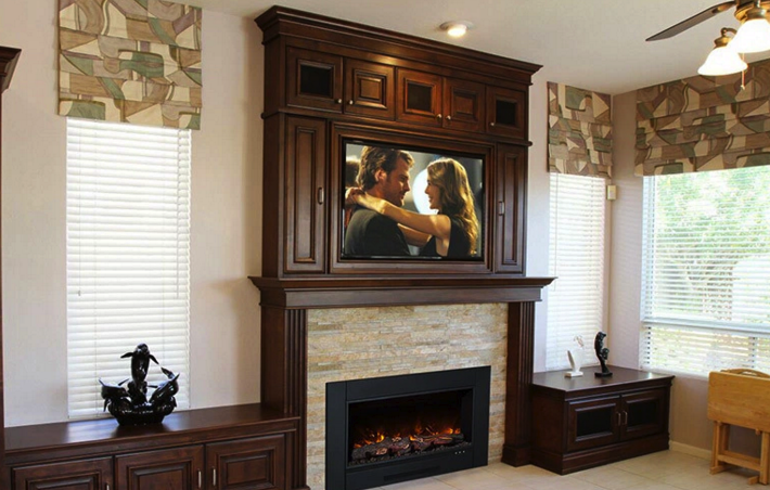 Zcr electric insert electric fireplace the energy house for Isokern fireplace inserts