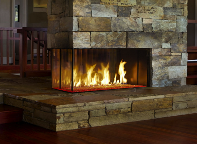 Davinci Custom Linear Pier | Fireplace | The Energy House