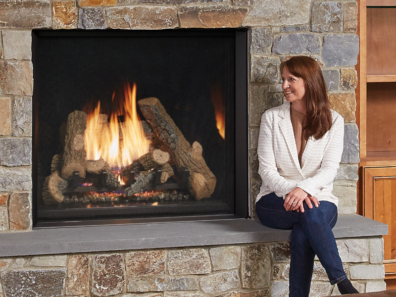 4237 Clean Face Gas Fireplace Energy House