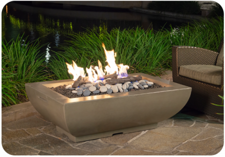 American Fyre Designs 50″ X 30″ BORDEAUX RECTANGLE FIRE BOWL