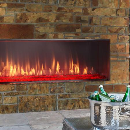 Lanai Fireplace