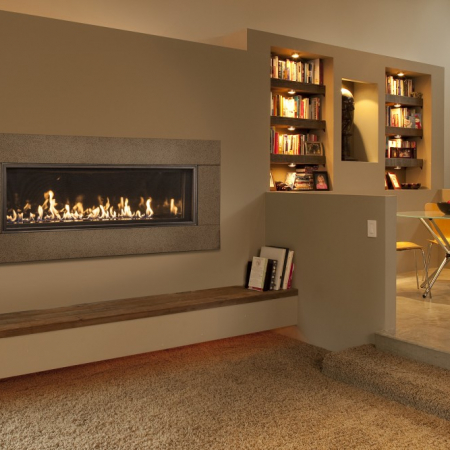 WS54 Contemporary Fireplace